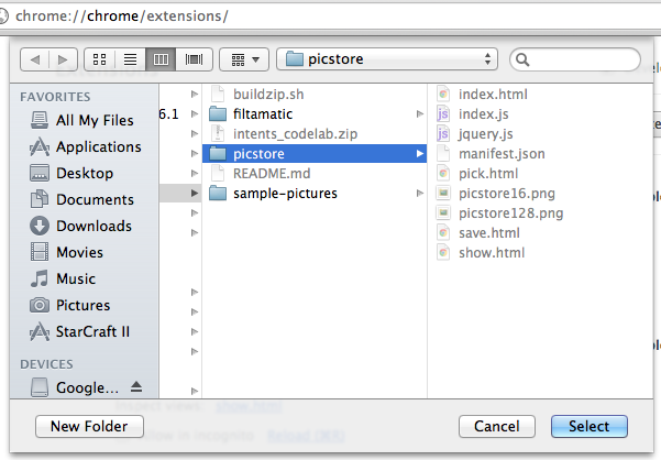 Picstore Extension